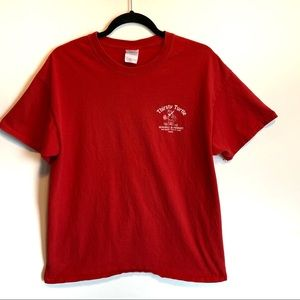 Thirsty Turtle T-shirt worm once ! Red Turtle top